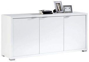 Pitarch Aparador salón Blanco Brillo 3 Puertas Armario Auxiliar Comedor Moderno 150x40x75 10