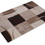 Paco Home Alfombra De Diseño Perfilado - A Cuadros - Marrón Beige, tamaño:160x230 cm 20