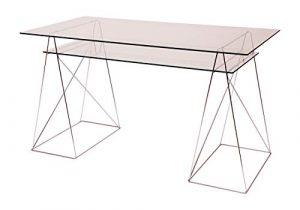 Eurosilla Office - Juego de 2 cristales, 130 x 70 y 11 3x 51cm. Color transparente, para mesa de diseño para oficina o escritorio 5