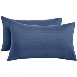 AmazonBasics - Fundas de almohada de microfibra deluxe,  50 x 80 cm x 2, azul marino 4