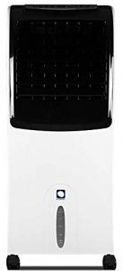 Climatizador Evaporativo MCONFORT E1200. 130W. Cobertura < 25m². Máximo Caudal 1300m³/h. 3 Velocidades. Emisión <52 dB. Vol 88/38/35cm. 10 kg. Mando a Distancia. Temporizador. Depóstito Extraible 10L 10