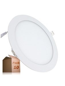 LED ATOMANT Pack 10x PANEL Led Redondo 18W, Color blanco frio 6500K, 1600 lumenes reales certificados, 18 W, 225mm, 18 4