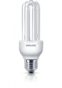 Philips Economy - Bombilla de tubo de bajo consumo (18 W, E27, De U, A, 6000 h, 1100 lm), Blanco 4