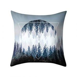 BBestseller Funda de Almohada geométrica,Imprimiendo Cojines para sillas Cremallera Oculta Cojines Sofa Almohadas IKEA Pillow Case (D) 8