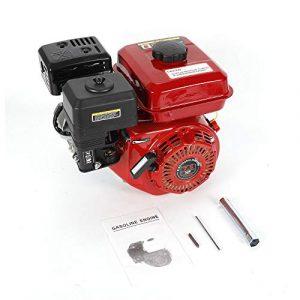 OUKANING Motor de gasolina, 6,5 CV (5,1 kW), motor de 4 tiempos, motor de estacionamiento 1