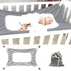 Hamaca para bebé para cuna, cama segura para recién nacido ajustable, cómoda, resistente y duradera, de 2 - a 12 meses 7