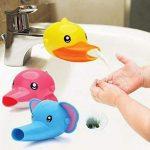 Xiton Grifo Extensor baño Fregadero Mango Extensor para los niños pequeños promueve en los niños 1PC Pato para lavarse Las Manos 17
