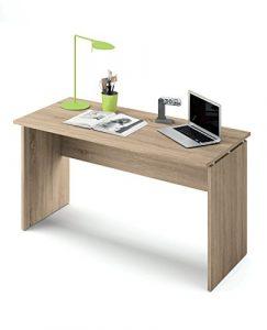 Abitti Escritorio Mesa de Ordenador Multimedia Color Cambrian para despacho, Oficina o Estudio, Grosor 22MM. 120cm Ancho x 76cm Altura x 68cm Fondo 8