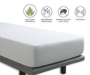 Tural - Protector de colchón Impermeable. Cubre colchon con Tratamiento Aloe Vera. Cubrecolchón para Cama Individual Transpirable. Rizo 100% Algodón. Talla 90x190/200cm 7