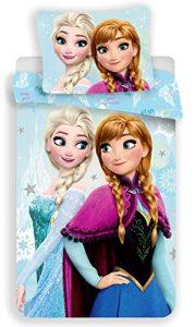 Reine des Neiges Frozen Blue-Juego de Cama Funda nórdica de Cama 1Persona 3