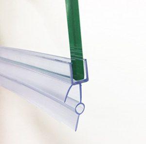 Soporte de goma de plástico HNNHOME, para mampara de baño o de ducha o puerta de cristal, de 4-6 mm; sellado transparente, 87 cm de largo, con agujero de 16 a 22 mm 2