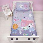 Peppa Pig - Juego de Funda de edredón y Funda de Almohada para niños, diseño, Color Morado 16