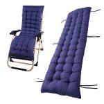Tumbona sillón reclinable Lounge de almohadilla cojín Patio jardín hamaca al aire libre cubierta 15