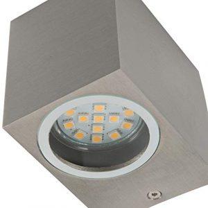 Luz de pared Smartwares 5000.464 Mika - LED doble - Acero inoxidable 8