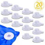 PAMIYO Clip de Edredón 20 Piezas Plásticos Transparente Sujeciones para Edredón Mantiene Las Edredón Previene el Desplazamiento 12