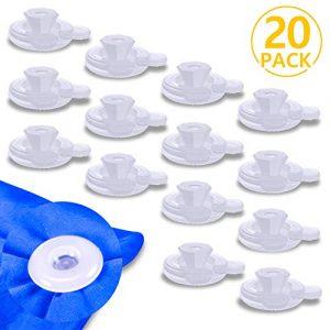 PAMIYO Clip de Edredón 20 Piezas Plásticos Transparente Sujeciones para Edredón Mantiene Las Edredón Previene el Desplazamiento 10