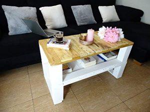 Dydaya Mesa de Centro de Palets & Original & Unica para Salon & Sala de Estar & Dormitorio & Sofa 2