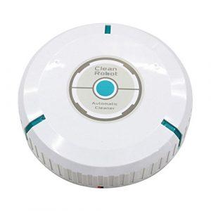 TOOGOO Robot limpiador auto de casa Fregona robotica inteligente de microfibra Barrendero limpiador de polvo de esquinas del piso Aspirador: Blanco 4