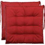 Cojín de asiento cojín para silla de jardín de almohada decorativa y funda de almohada de - 9er acolchado de - en varios diseños, poliéster, rojo, 2er-Paket 11