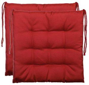 Cojín de asiento cojín para silla de jardín de almohada decorativa y funda de almohada de - 9er acolchado de - en varios diseños, poliéster, rojo, 2er-Paket 5
