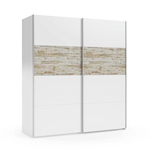 <ul><li>Su diseño en líneas rectas, puras y limpias, junto con su perfecta combinación de los colores de moda, Vintage y Blanco brillo, crean un ambiente acogedor y equilibrado en tu hogar, consiguiendo así un dormitorio con un estilo confortable, cálido y luminoso.</li><li>Medidas: Ancho: 180 cm. x Alto: 200 cm. x Fondo: 61 cm.</li><li>Materiales: Tablero de melamina de 15 mm. de primera calidad. Perfil de puertas correderas de aluminio. Perfiles, herrajes y tiradores metálico.</li><li>Acabado y color: Color blanco y Vintage. Perfiles y tiradores metálicos.</li><li>----> ENVIO GRATUITO A PIE DE CALLE <----</li></ul>