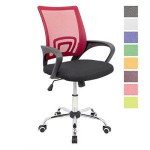 CashOffice - Silla de Escritorio Ergonómica, Silla de Oficina Giratoria con Respaldo Transpirable (Rojo) 4