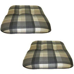 Beo 2-er M942 Forli BA1 - Almohadilla m942 Forli ba1 Gimp para taburetes, Bancos y sillas, Alrededor de 47 x 47 cm, 6 cm de Espesor, de Color Gris 1