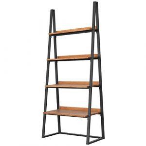 COMIFORT - Estantería librería Decorativa de Roble Macizo y Estructura de Acero, estanterías Modernas de diseño salón, Comedor o Pasillo, Estilo Loft (Ahumado) 7