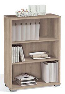 Abitti Estantería librería Biblioteca pequeña Color Cambrian, estantes Regulables, Gruesos de 22MM, para Oficina, despacho o Estudio. 102cm Altura x 75cm Ancho x 33cm Fondo 6
