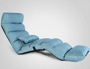 Puffs pera Plegable Lounger Sofá Silla Cama Individual Respaldo Silla Balcón Ocio Tumbona (Color : Azul) 8