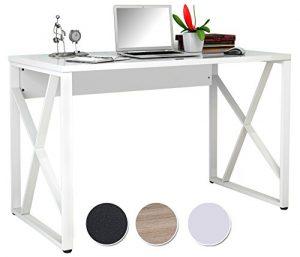 SixBros. Mesa de ordenador blanco lustre S-349C/1852 2