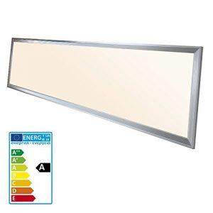 ECD Germany LED Panel ultradelgado con material de montaje 42W - 120 x 30 cm - Blanco cálido 2700K - Ultrafino 2640 lumens - Lámpara empotrada en el techo 9