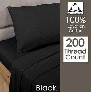 Par de fundas de almohada, Rayyan Linen, 100% algodón egipcio de 200 hilos, 50 x 75cm, negro, 2X PILLOWCASES 9