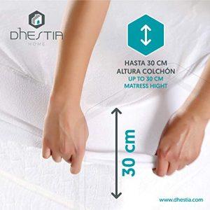 DHestia - Protector Colchón Impermeable y Transpirable Hipoalergénico, Anti-acaros y Anti-bacterias (Algodón Liso/Smooth Cotton, 105 x 190/200 cm) 7