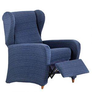 Jarrous Funda de Sillón Relax Elástica Modelo Dionisio, Color Azul-03, Medida 60-75cm de Respaldo 7