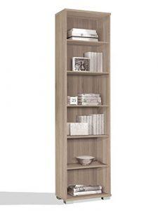 Estantería librería biblioteca de pie alta color cambrian, estantes regulables, gruesos de 22MM, para oficina, despacho o estudio. 199cm altura x 51cm ancho x 33cm fondo 8