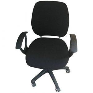 Pinji Funda Cubierta de Silla de Oficina Elástica Extraíble Negro 6