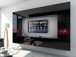 HomeDirectLTD Future 29, Conjunto de Muebles De Salón, Módulo Bajo para TV Y Multimedia, Unidad de Entretenimiento, Mueble TV, Suite a Estrenar (Iluminación RGB LED Opcional) (29_HG_B_1, Rojo LED) 4