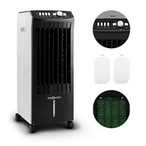 oneConcept MCH-1 V2 - Enfriador portátil , Ventilador refrescante , 3-EN-1: enfría ventila humidifica , 65W , 400m³/h , Tanque 7L , Movilidad con ruedas y asas , 3 niveles , Negro/blanco 2