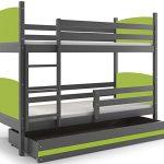 Interbeds Cama Doble - litera Infantil,Tami, 160X80, Color Gris, los Paneles (colchones,somieres y cajón Gratis) (Verde) 17