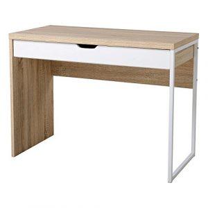HomCom Mesa de Ordenador Tipo Escritorio de PC para Hogar Oficina o Despacho - Mueble de Madera -100 x 50 x 75cm 9