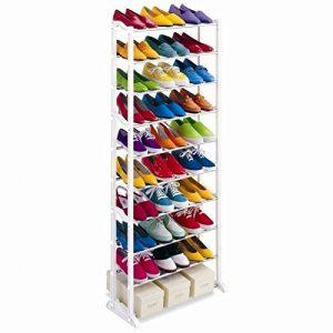 Zapatero organizador de zapatos 10 alturas para 30 pares 6