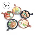 YiGo 5pcs Dollhouse Miniatures Alimentos Poco Mundial de Alimentos coleccionables Mini Accesorios de Cocina para el bebé 16