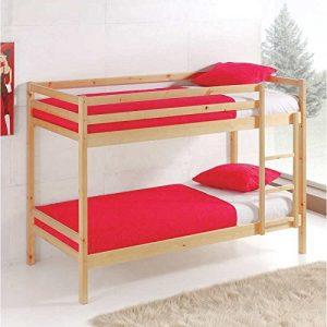 Miroytengo Litera Premier Fabricada en Madera Color Natural litera Dormitorio Juvenil Camas 90x190 cm con somieres incluidos 10