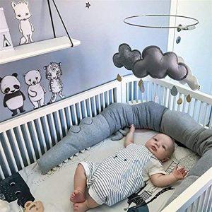 Cama Bebé Cojín Parachoques Torre de Cama Cojín Protectores Para Cunas y Camas de Bebé Parachoques Cuna 185 cm 4
