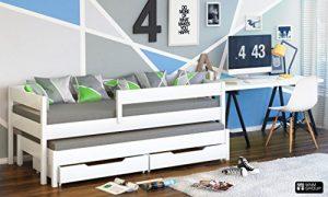 Cama individual Jula para niños, con nido Cajones incluidos. -, madera, Blanco, 200x90/190x90 4