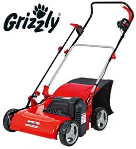 Escarificador eléctrico Grizzly EV 1800 40 de acero con saco de 1800 W, carcasa de acero robusta con superficie de trabajo de 40 cm. 10