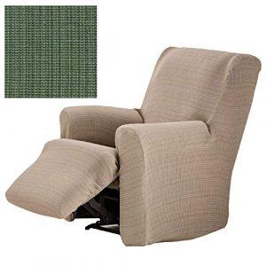 Jarrous Funda de Sillón Relax Completo Elástica Modelo Dionisio, Color Verde-04, Medida 60-90cm de Respaldo 6