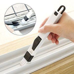 Generic azul: 2en 1multifunción ventana ranura cepillo con recogedor Protector de teclado cajón armario Corner Gap eliminación del polvo Cepillo de limpieza 7