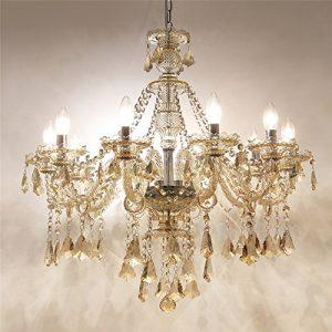 Homelava Lámpara de Araña de Cristal con 10 Luces Lámpara de Cristal para Salón/Hotel (10 Luces) 7